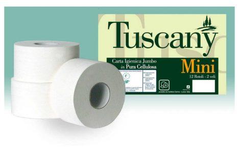 Rotoli carta igienica Jumbo Mini Tuscany Rosati Carta