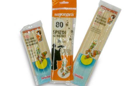 Spiedi Bambù Rosati Carta