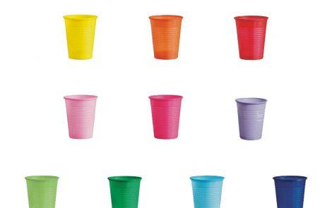 Bicchieri plastica colorati Rosati Carta