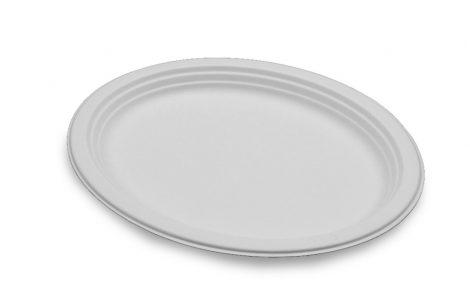 Piatti piani ovali biodegradabili Rosati Carta