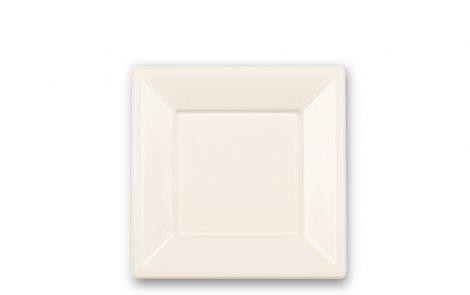 Piatti piani quadrati cm 18 colore bianco Rosati Carta