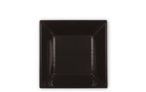 Piatti piani quadrati cm 18 color nero Rosati Carta