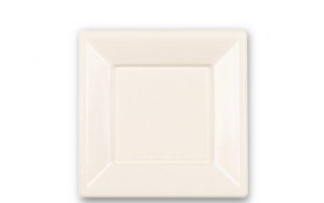 Piatti piani quadrati cm 23 colore bianco Rosati Carta