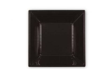 Piatti piani quadrati colore nero cm 23 Rosati Carta