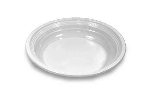 Piatti fondi plastica bianco Rosati Carta