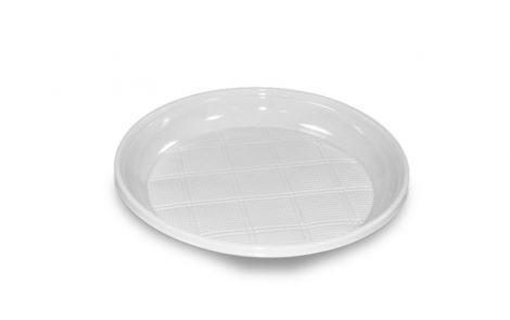 Piatto piano in plastica bianco Rosati Carta