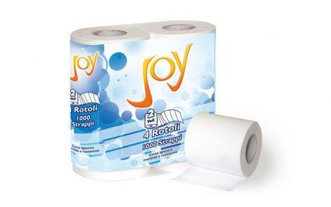 Rotoli carta igienica a 2 veli Joy Rosati Carta
