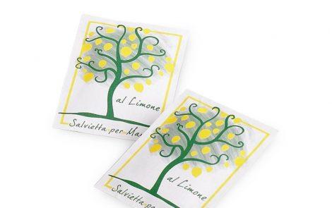 Salviette umide rinfrescanti Lemon Tree al limone Rosati Carta