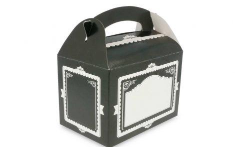 Scatole nere per asporto cibo modello vintage Rosati Carta