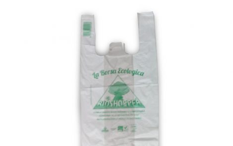 Buste shoppers biocompostabili taglia piccola Rosati Carta