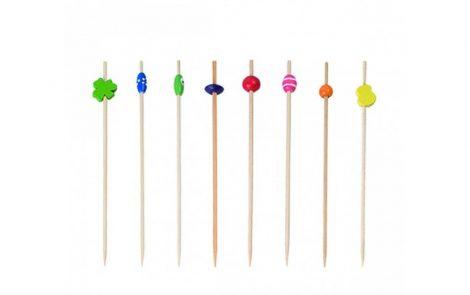 Spiedini in bambù vari colore e decorazioni Rosati Carta