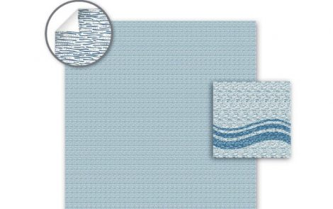 Tovaglie carta a secco flow azzurro Rosati Carta