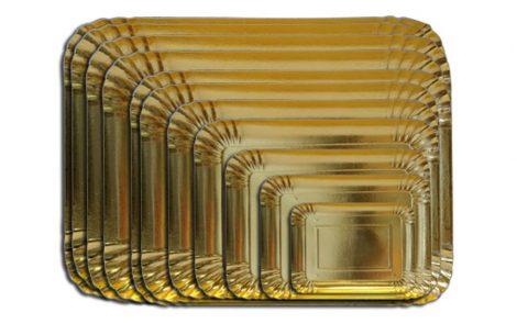 Vassoi carta oro Rosati Carta