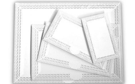 Vassoi trinati bianco rettangolari Rosati Carta
