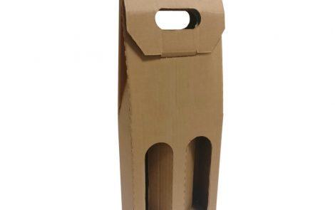 Scatola porta bottiglia in cartone avana doppio scomparto Rosati Carta