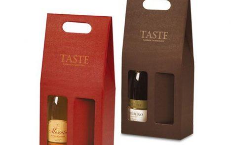Scatola porta bottiglia colorata doppio scomparto Rosati Carta