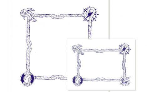 Tovaglie damascate modello nodi 100x100 Rosati Carta