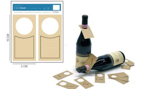 Cartellini segnaprezzo bottiglia Rosati Carta