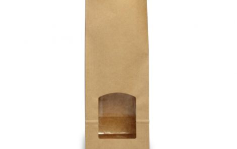 sacchetto sealing con finestra e fondo quadro Rosati Carta