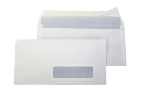 Buste bianche a strip con finestra Rosati Carta