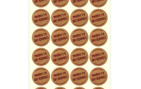 """Etichette adesive con scritta """"prodotto artigianale"""" Rosati Carta"""