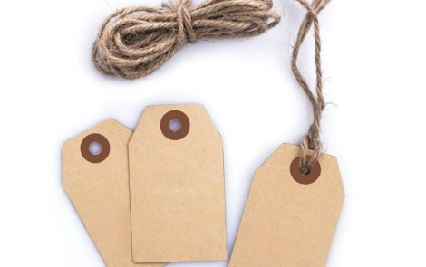 Etichette tag kraft con cordino Rosati Carta