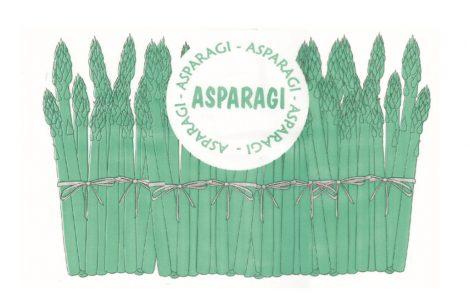 """Fogli alimentari HD con stampa generica """"asparagi"""" Rosati Carta"""