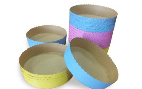 Forme cottura per tortina rosa giallo azzurro Rosati Carta