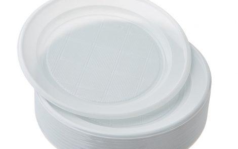 piatti piani classici plastica bianca Presto Rosati Carta