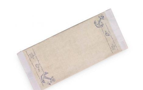 Buste portaposate modello Ancora in stile mare / marinaro con tovagliolo Rosati Carta