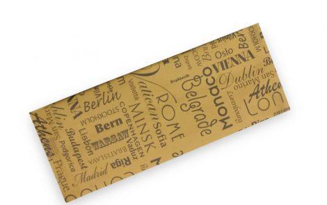 Buste portaposate modello Città carta gialla con tovagliolo Rosati Carta