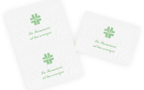 Carta kraft bianco per incarto con stampa generica Farmacia Rosati Carta