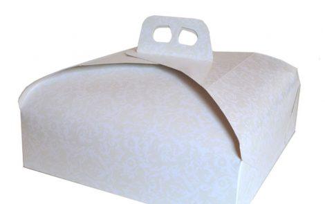 Scatole porta paperino bianco damascata Rosati Carta
