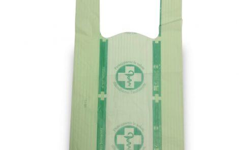Shoppers biocompostabili farmacia verdi piccole Rosati Carta