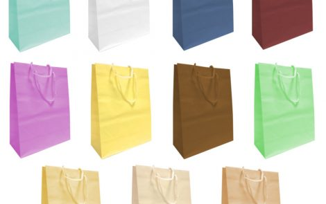 Shoppers carta con cordino colori Rosati Carta