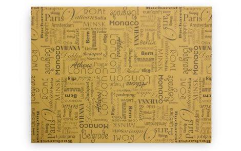 Tovagliette 30x40 modello Città con nomi città in carta gialla Rosati Carta