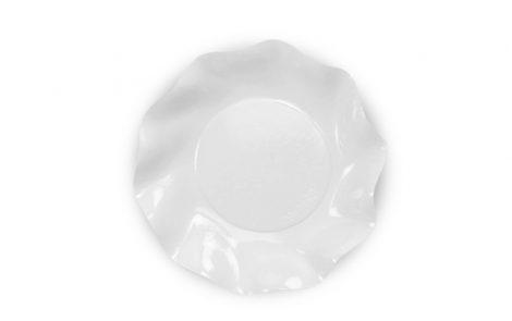Piatto dessert bianco perlato set Petalo coordinati extra Rosati Carta