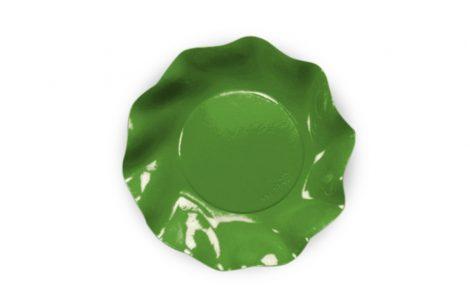 Piatto dessert verde prato set Petalo coordinati extra Rosati Carta