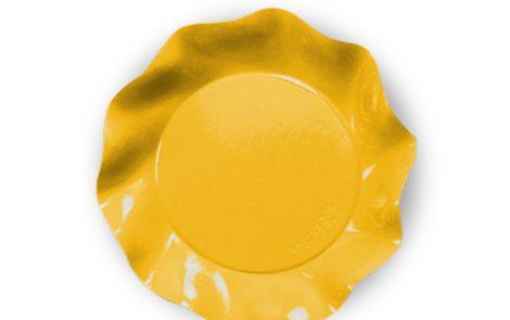 Piatto piani giallo set Petalo coordinati extra Rosati Carta