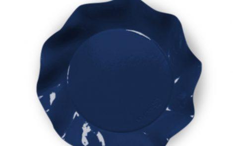 Piatto piani grandi blu set Petalo coordinati extra Rosati Carta