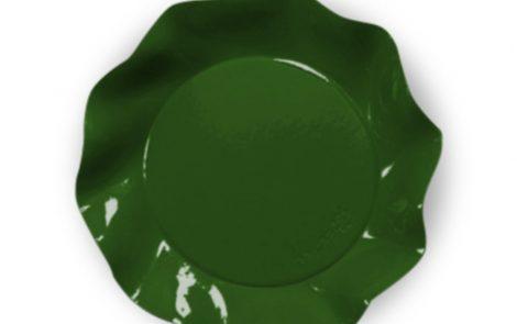 Piatto piani grandi verde set Petalo coordinati extra Rosati Carta