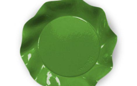 Piatto piani grandi verde prato set Petalo coordinati extra Rosati Carta