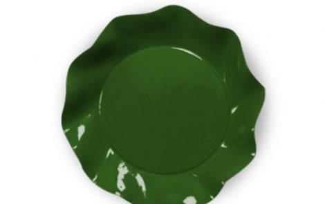 Piatto piani verde set Petalo coordinati extra Rosati Carta
