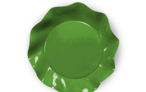 Piatto piani verde prato set Petalo coordinati extra Rosati Carta
