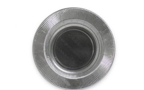 Piatto fondo argento righe coordinati extra Rosati Carta