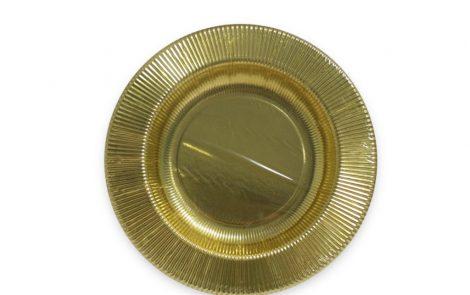 Piatto fondo oro righe coordinati extra Rosati Carta