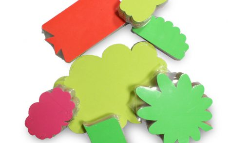 Cartellino segnaprezzi colori fluo di varie forme e grandezze Rosati Carta