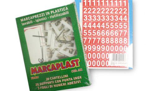 Cartellino segnaprezzi a11 con supporto e fogli numerati Rosati Carta