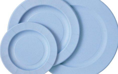 Set piatti e bicchieri carta zucchero coordinati extra righe Rosati Carta