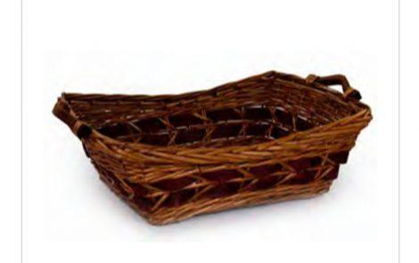 cesta vimini miele bordeaux rettangolare Rosati Carta